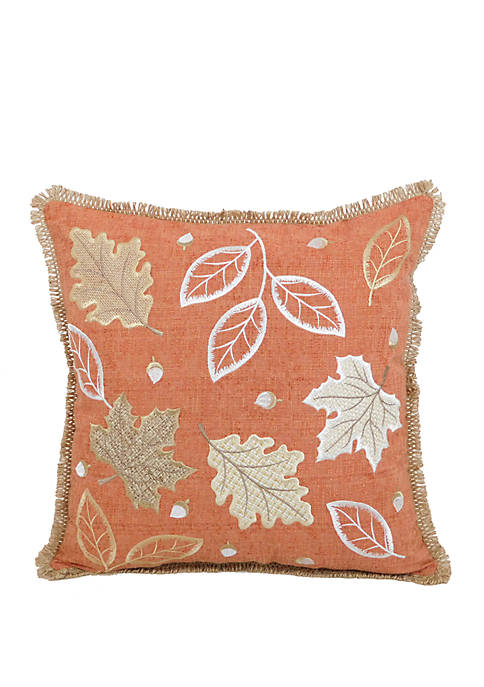 Dancing Leafs Throw Pillow