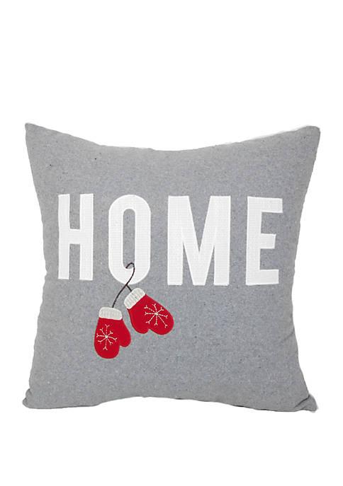 Home Mittens Throw Pillow