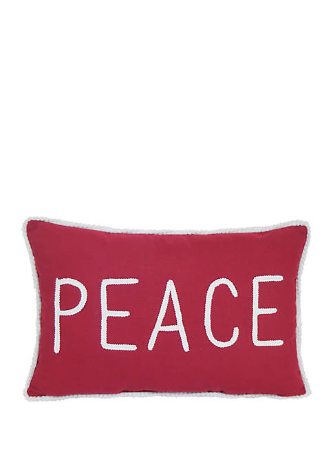 Peace and Greetings Throw Pillow