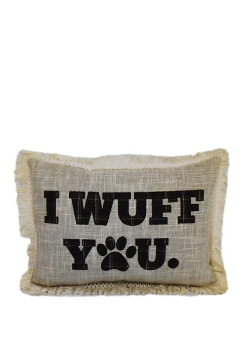 I Wuff You Throw Pillow