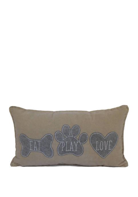 Eat Play Love Throw Pillow