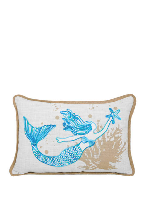 Arlee Home Fashions Inc.™ Crewel Mermaid Throw Pillow