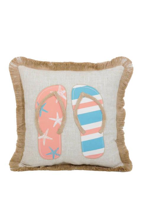 Arlee Home Fashions Inc.™ Beach Flip Flops Throw