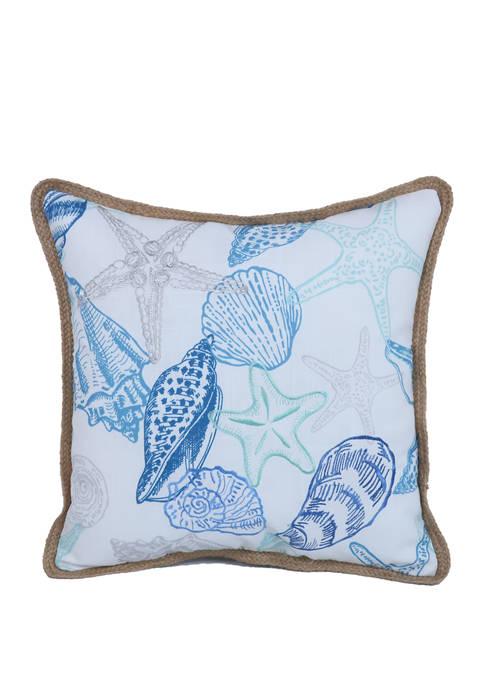 Arlee Home Fashions Inc.™ Seashell Study Throw Pillow