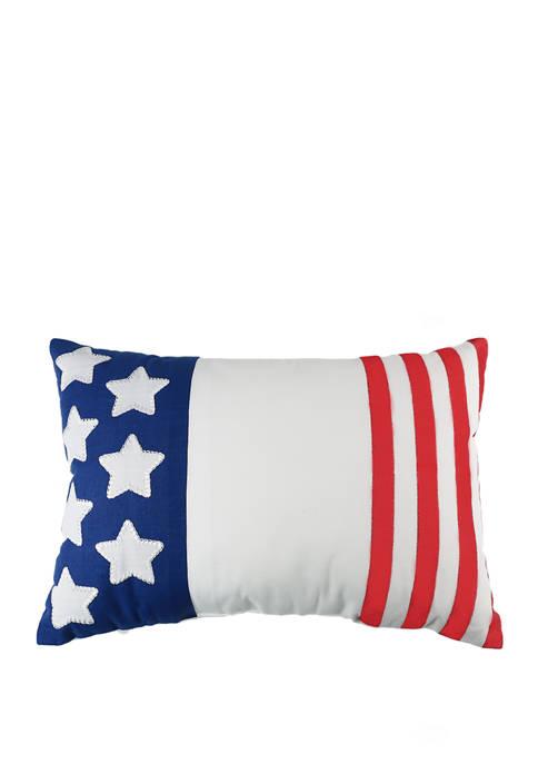 Americana Patches Decorative Pillow