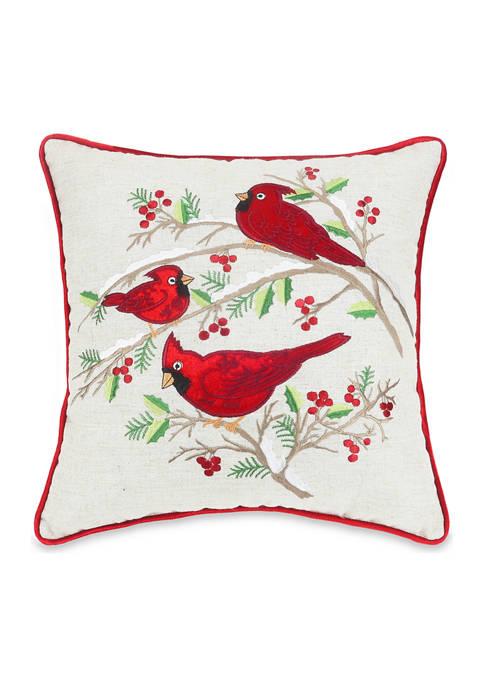 Arlee Home Fashions Inc.™ Cardinal Christmas Decorative Pillow