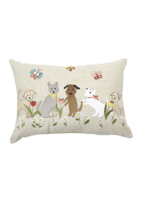 Spring Dog Throw Pillow