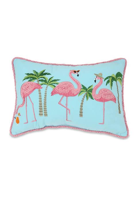 Flamingo Flock Pillow