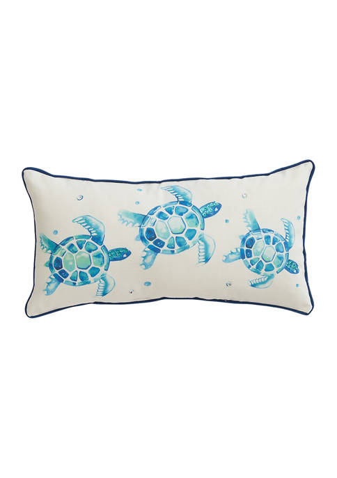 Watercolor Turtles Throw Pillow