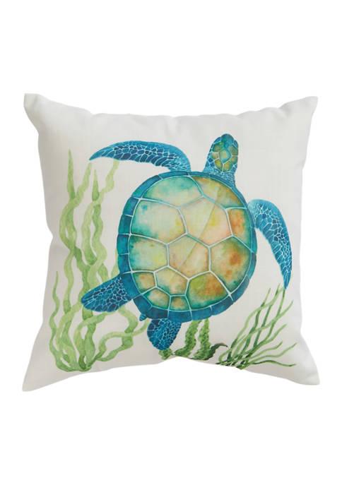 Watercolor Sea Turtle Throw Pillow