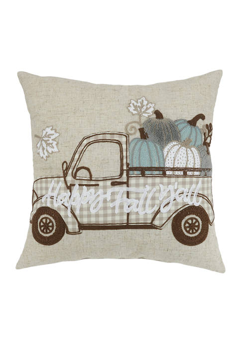 Arlee Home Fashions Inc.™ Fall Gingham Truck Decorative