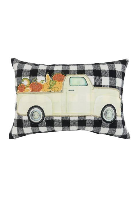 Arlee Home Fashions Inc.™ Pumpkin Truck Decorative Pillow