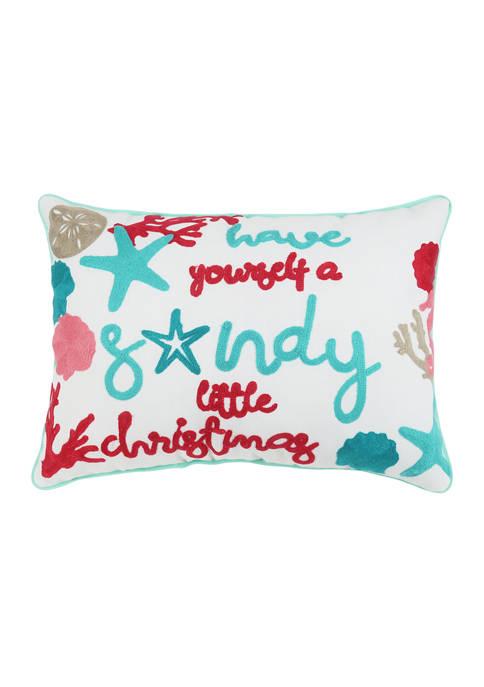 Arlee Home Fashions Inc.™ Sandy Christmas Decorative Pillow