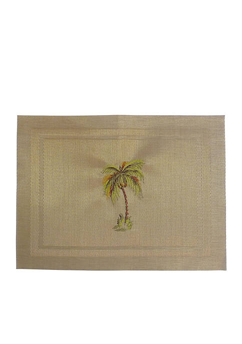 Arlee Home Fashions Inc.™ Palm Tree Embroidered Placemat