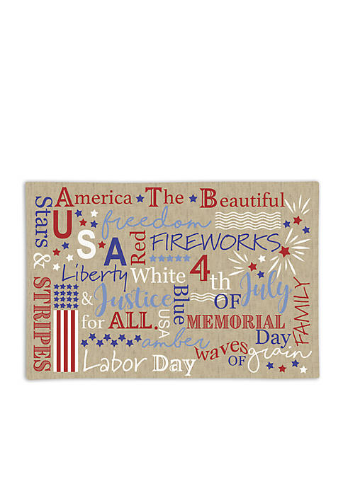 Arlee Home Fashions Inc.™ American Declaration Placemat