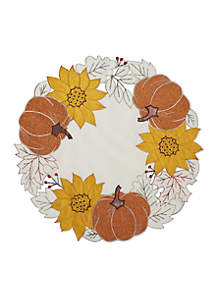 Pumpkin Season Round Placemat