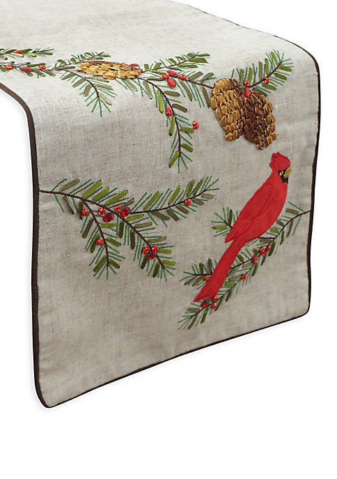 Winter Cardinal Table Runner