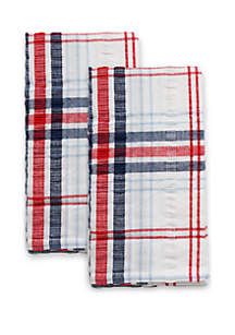Arlee Home Fashions Inc.™ Seersucker Plaid 2 Piece Napkin Set