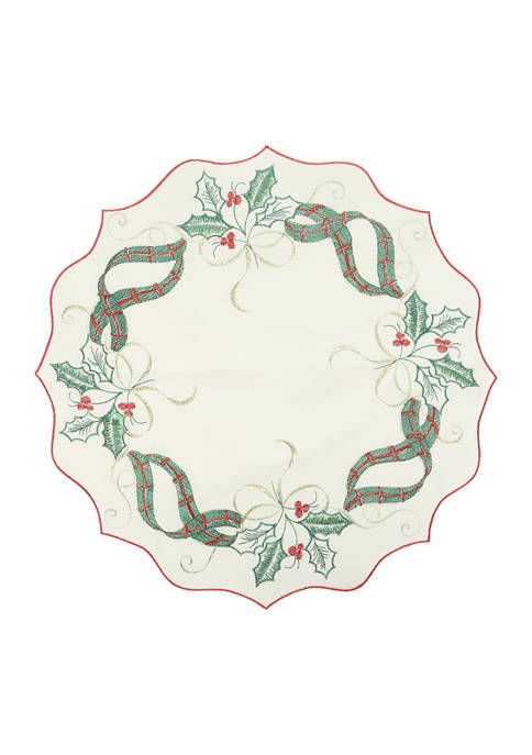 Arlee Home Fashions Inc.™ Embossed Holiday Nouveau Placemats