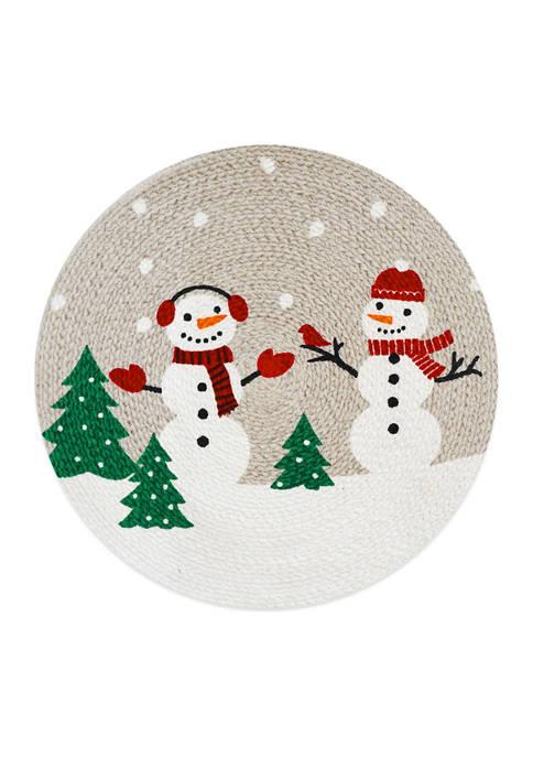 Arlee Home Fashions Inc.™ Snowman Round Mat