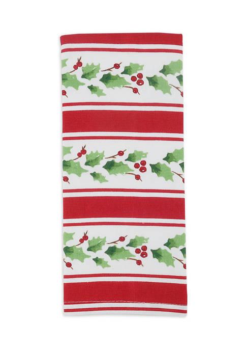 Arlee Home Fashions Inc.™ Holiday Stripe Kitchen Towel