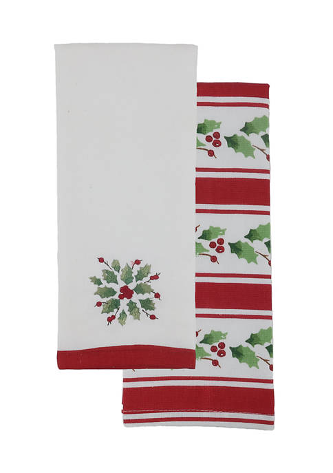 Arlee Home Fashions Inc.™ Holiday Stripe Kitchen Linen