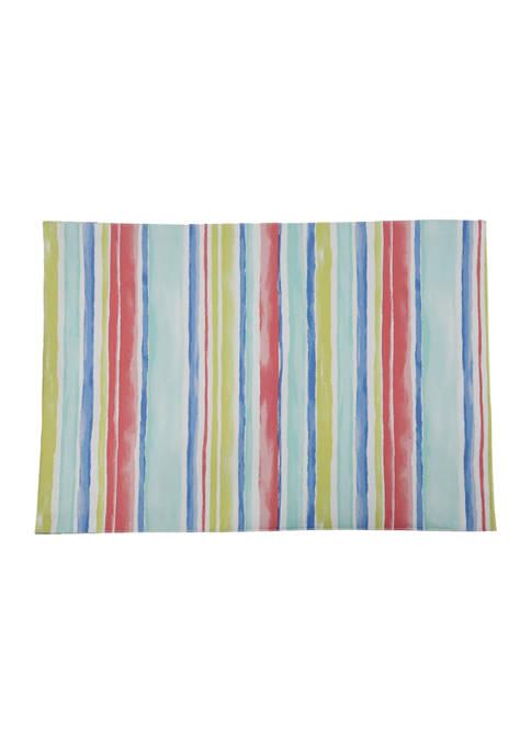 Multi Watercolor Stripe Placemat