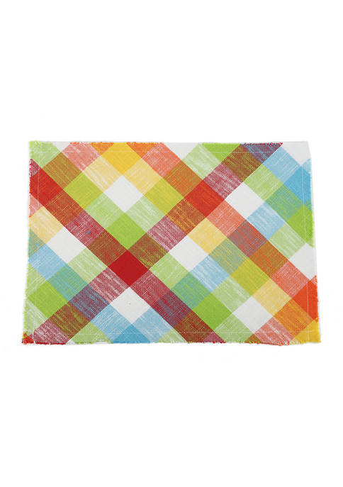 Arlee Home Fashions Inc.™ Multicolored Plaid Placemat