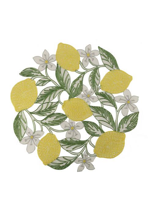 Arlee Home Fashions Inc.™ Lemon Leaves Cutout Placemat