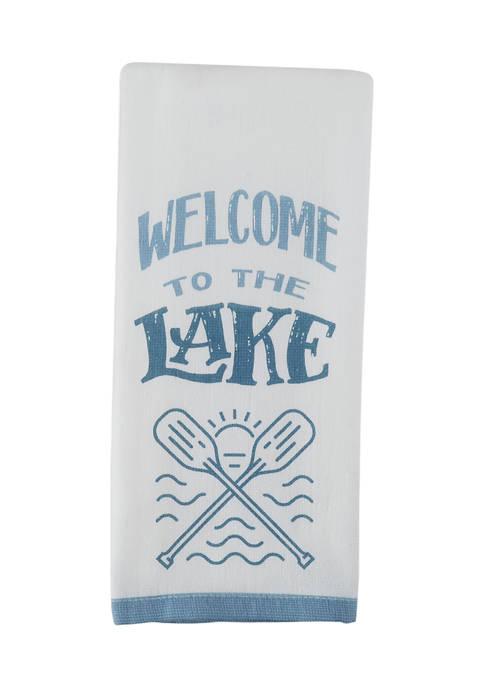 Welcome Lake Kitchen Towel
