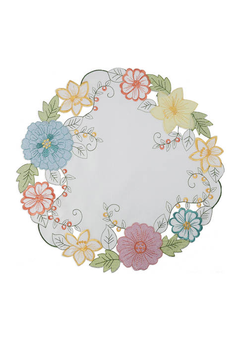 Arlee Home Fashions Inc.™ Garden Delight Round Placement