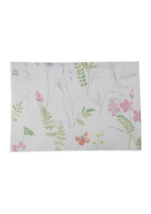 Sketchbook Floral Placemat