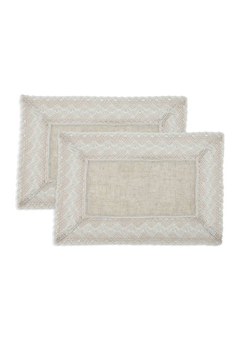 Arlee Home Fashions Inc.™ Vintage Lace Natural Placemat