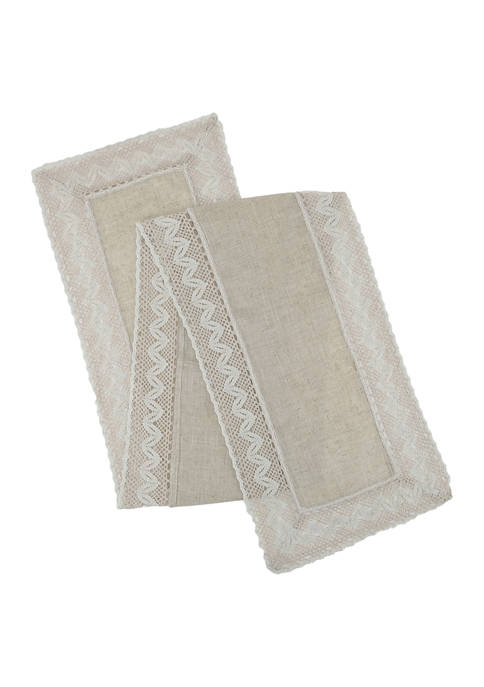 Arlee Home Fashions Inc.™ Vintage Lace Natural Runner