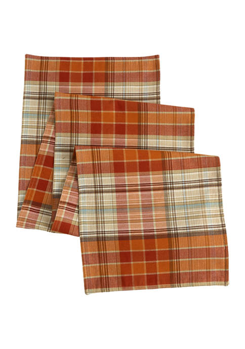 Arlee Home Fashions Inc.™ Spice Plaid Woven Table