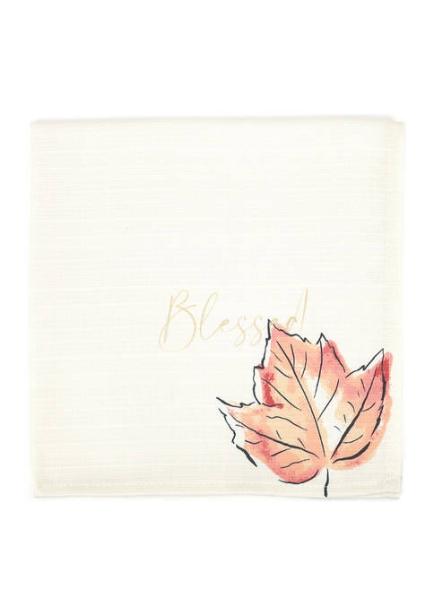 Arlee Home Fashions Inc.™ Harvest Napkins with Thankful
