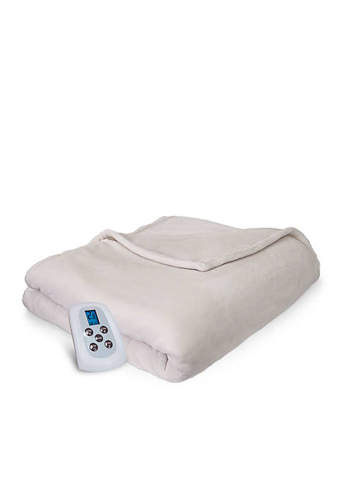 SERTA COMFORT PLUSH PROGRAMMABLE HEATED ELECTRIC WARMING BLANKET FULL