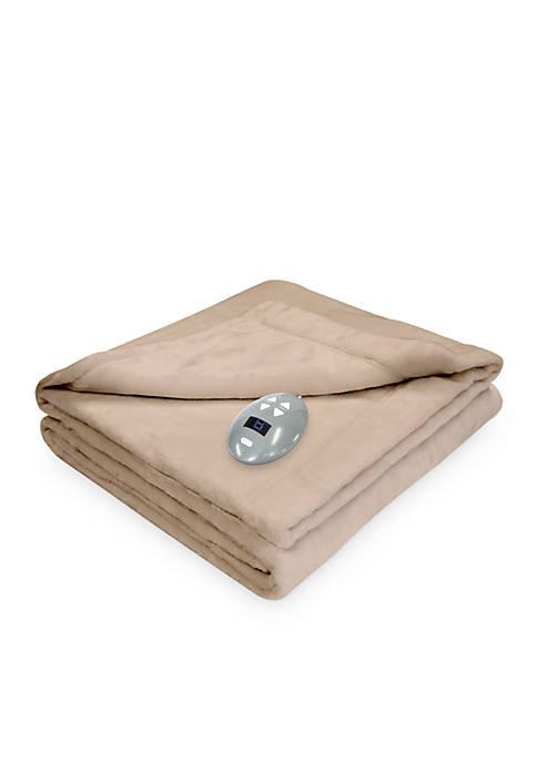 Velvet Plush Warming Blanket with Digital Controller