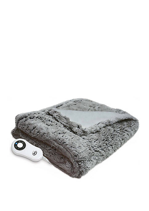 Faux Fur Throw with 5 Setting Controller