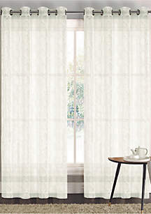 Lacey Sheer Grommet Window Curtain Panel Pair