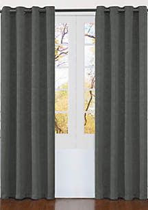 Matelasse Extra Wide Grommet Window Curtain Panel Pair