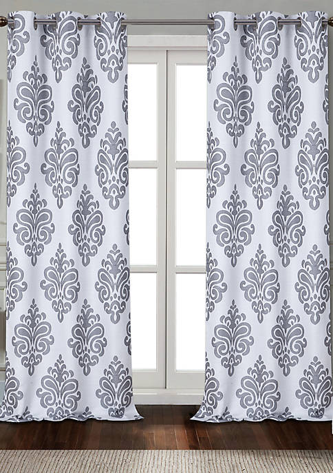 Dainty Home Marquise Textured Appliqué Grommet Window