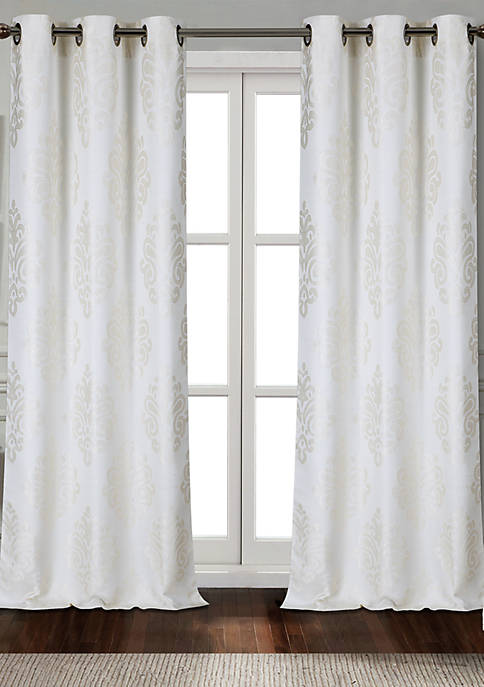 Dainty Home Marquise Textured Appliqué Grommet Window