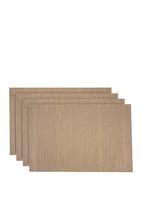 Forest Faux Leather with Suede Backing Placemats- Set of 4
