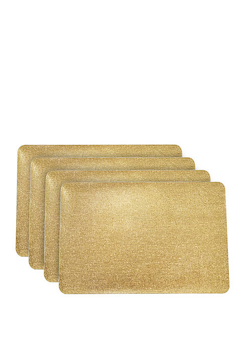 Dainty Home Galaxy Metallic Rectangular Reversible Placemats- Set