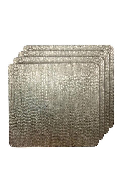 Galaxy Metallic Square Reversible Placemats-  Set of 4