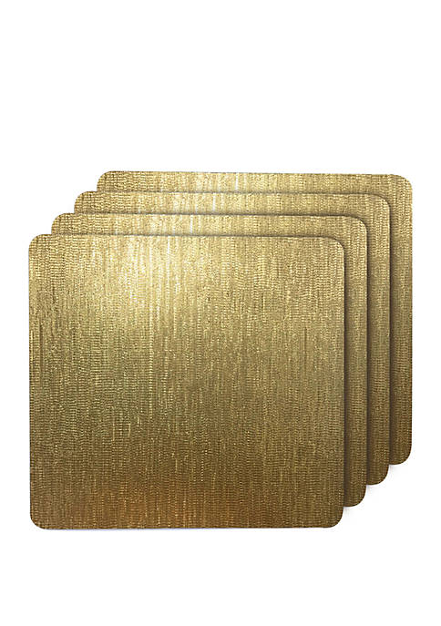 Dainty Home Galaxy Metallic Square Reversible Placemats- Set