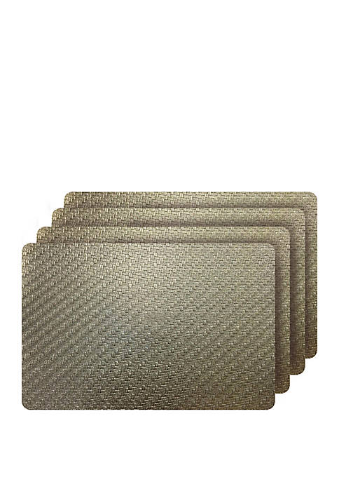 Dainty Home Set of 4 Cambria Metallic Textured