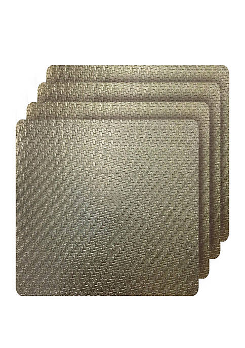 Dainty Home Cambria Metallic Textured Faux Leather Square