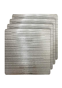 Dainty Home Emery Metallic Reversible Square Set of 4 Placemats